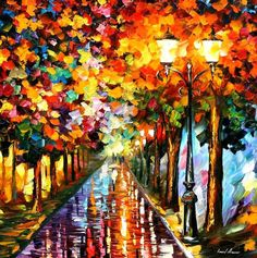 Transformation of the night by Leonid Afremov by Leonidafremov on DeviantArt