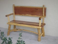 Rustic Furniture - Rustic Wood Log Bench picture