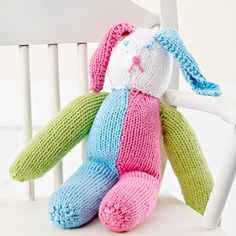 Knitted Stuffed Bunny freebie, awww: this is lovely!