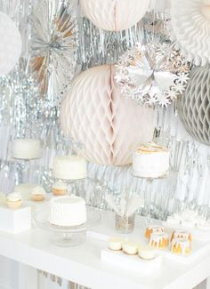 Silver and White New Years Party DIY / Abby Larson | west elm
