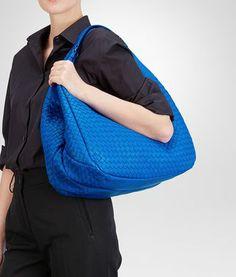 BOTTEGA VENETA - Bags, Signal Blue Intrecciato Nappa Campana Bag