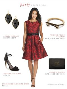 A red holiday party dress style idea and several red dresses to wear to office holiday parties, winter weddings, and cocktail parties during the winter months. Holiday Party Dresses, Holiday Party Outfit, Red Wedding Dresses, Wedding Dress Styles, Holiday Parties, Office Holiday Party, Cocktail Parties, Cocktail Wedding Attire, Office Party Dress