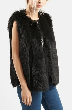 A plush faux fur vest is a fun way to instantly glam up a fall and winter ensemble.