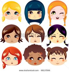 The Complete Set Of The Drawn Eyes Stock Vector 53943130 : Shutterstock