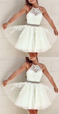 Cute Formal Dresses, Semi Dresses, Hoco Dresses, Event Dresses, Dress Prom, 8th Grade Formal Dresses, Semi Formal Dresses For Teens, White Semi Formal Dress, Wedding Dresses