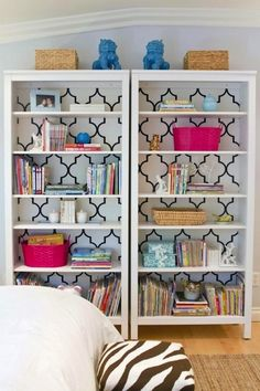 Ikea Transformations for Stylish & Organized Kids Rooms  #Ikea #Hack #Style #Kids #Playroom #Storage #Organization #Organize #Bookcases  www.AZFoothills.com
