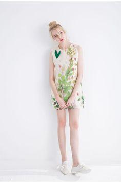 100% Silk Spinning Streak Dress DR0901