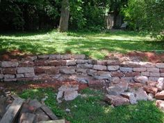 using broken concrete for steps and retaining wall the secret
