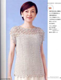 Crochet Wonders: Tunici de Crochê_Japonês