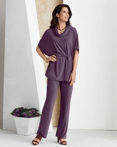 So Put-Together Pant Set -- Effortlessly stylish, perfectly-put-together women's pant set.