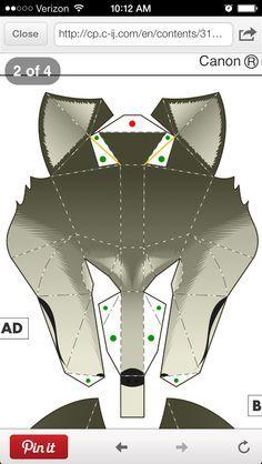 \n Wolf mask template, large\n \n\n\nMore\n Animal Masks, Animal Heads, Wolf Maske, Donkey Mask, Paper Toys, Paper Crafts, Anubis Mask, Mononoke Cosplay, Cardboard Mask