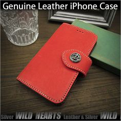 Genuine cowhide leather iPhone 6,6s,7/6,6s,7 Plus Flip Case Pink WILD HEARTS Leather&Silver(ID ip3261) http://global.rakuten.com/en/store/auc-wildhearts/item/ip3261/