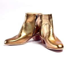 brass leather beatle boots, $260.00 @ Goodbye Folk on Etsy