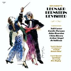 Harvey Schmidt 1982 Ben Bagley's Leonard Bernstein Revisited [Painted Smiles PS-1377] ※re-issue: 1995 Painted Smiles [PSCD-107] #albumcover #illustration