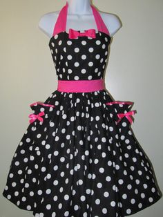 Black and White Polka Dot Pin Up Rockabilly by RavenBombshell, $109.00