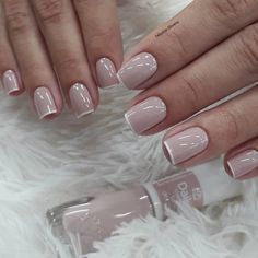 By: @ fabyane. Aycrlic Nails, Feet Nails, Glam Nails, Classy Nails, Stylish Nails, Love Nails, Manicure And Pedicure, Pretty Nails, French Nails