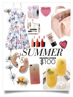 """""""Cheerful and Bright Summer dress below $100!"""" by fluffyflavi on Polyvore featuring Hollister Co., Corto Moltedo, Schutz, ban.do, Kate Spade, Too Faced Cosmetics, MAC Cosmetics, NYX and Stoney Clover Lane"""