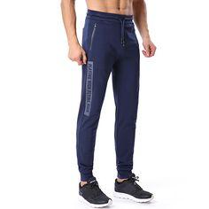 Pantalones deportivos de pierna recta casual de moda para hombre que se  ejecutan entrenamiento Slim Fit pantalones de deporte c69424b2ad2e
