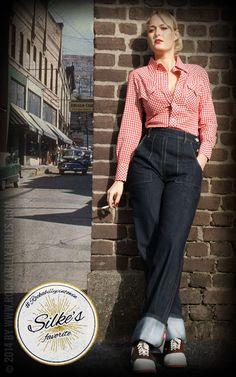 Das Lieblingsprodukt von Silke ist mit Abstand die Rumble59 Denim Marlene-Jeans! Die Jeans sitzt perfekt und ist ein Muss für alle Rockabellas!