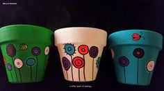 my hand painted pots