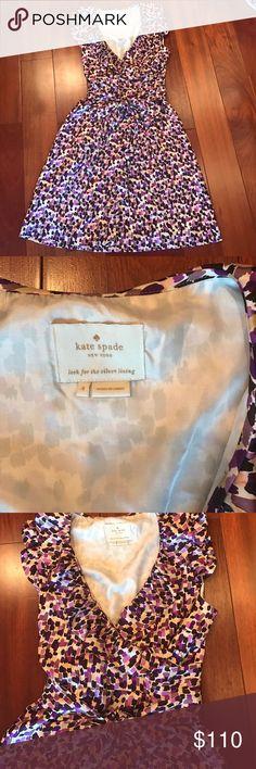 Lowest PRICE! Kate Spade Silk Aubrey Dress 👗 Kate Spade ♠️ Silk Aubrey wrap dress in purple. Like new! Original price is $398 kate spade Dresses