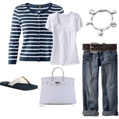 Love, Love this look, but I've always been drawn to a nautical look.  And who doesn't love an Hermes bag?  That bracelet is fantastic, I want it!