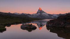 Matterhorn Reflection - A view of the Matterhorn from the Stellisee, Zermatt