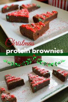 A healthy brownie recipe and beautiful Christmas Dessert recipe all in one—using our Wicked Mint Brownies!