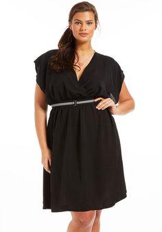 Robe grand taille Nalae noir, robe grande taille - Scarlett