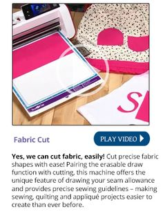 I think this is going to be my new sewing toy to save for! The Brother ScanNCut   Home and Hobby Fabric Cutter. It could take care of all those small fussy pattern pieces that are a pain to hand cut and too small for the rotary cutter.
