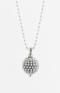 Lagos Sterling Silver Ball Long Pendant Necklace | Nordstrom