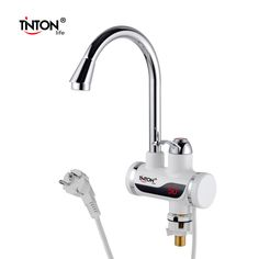 TintonLife EU Plug Tankless Instant Faucet Water Heater Instant Water Heater Tap Kitchen Hot Water Crane LED Digital