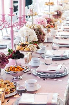 Real Afternoon Tea Party Wedding, Pink, Grey, Empire State Building, Valentine's Day || Colin Cowie Weddings