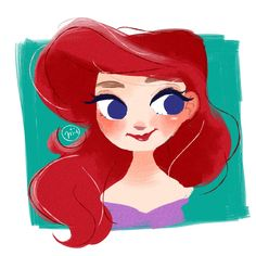 Ariel little mermaid disney art