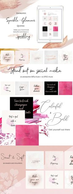 Your goal is to create an amazing look and feel content that leaves your readers inspired and motivated.  This bundle contains social media ready files for Instagram.