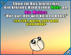 Kekslos enttäuscht -_- #Sprüche #lustigeSprüche #Humor #Keks #Kekse #traurig #lustig #lustigeBilder #witzig