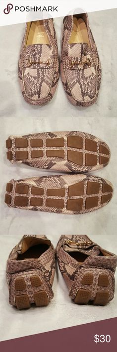 Womens Cole Haan faux  snakeskin shoes Like new worn Once! Faux snakeskin slip ons. Super cute!! Cole Haan Shoes