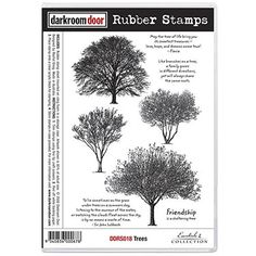 Darkroom Door Rubber Stamp Set - Trees