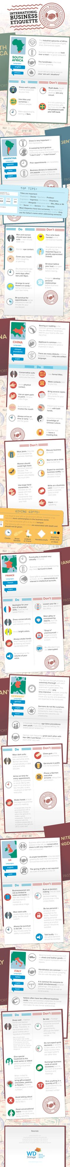 International Business Etiquette #infographic #Business #Travel #Meetings
