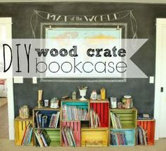 diy wood crate bookcase by fennirose