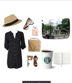 Summer shopping outfit.  Especially nice with the hat and shades to provide more protection from the UV rays!