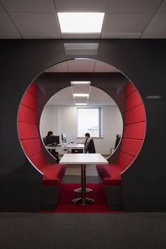 Booth seating at Visualsoft