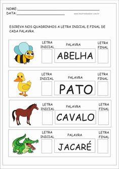Learn Portuguese, Toddler Activities, Gabriel, Literacy, Homeschool, Teaching, Activities For Autistic Children, Preschool Literacy Activities, Reading Activities