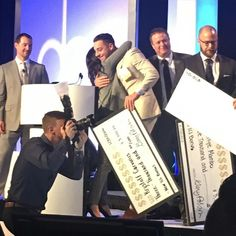 So not only do we attend some pretty awesome conferences and events but we also take home larger-than-life sized checks! Our clients don't mess around when it comes to #bonuses! It was so great to see our president up on the stage getting recognized! #gobigorgohome #largerthanlife #recognition #bigmoney #thecarvonisgroup