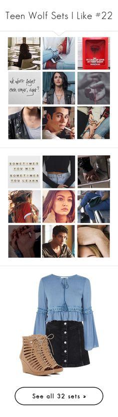 """Teen Wolf Sets I Like #22"" by kelseystan97 ❤ liked on Polyvore featuring art, Topshop, Glamorous, Top Moda, STELLA McCARTNEY, Splendid, Gianvito Rossi, Hollister Co., Superdry and Giani Bernini"