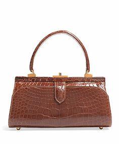 Glazed Alligator Frame Bag - Brooks Brothers