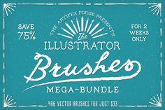 The Illustrator Brushes Mega-Bundle! - Brushes - 1