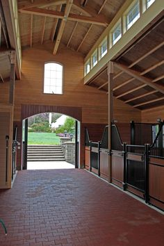 European stalls, rubber pavers, and a nice, high ceiling. Love it!