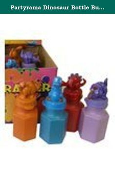 Partyrama Dinosaur Bottle Bubbles 0.6Oz Pack Of 24. Dinosaur bottle bubbles pack of 24 quantity: 0.6oz sold in assorted design bottles with pterodactyl trex stegosaurus triceratops diplodocus brontosaurus tops important notice: please note that bubbles are not suitable for children 3 years and under disclaimer: display box may vary from the image shown.