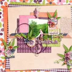 Digital Scrapbook Layout by Elizabeth | Slow Down Kit | Bella Gypsy Designs
